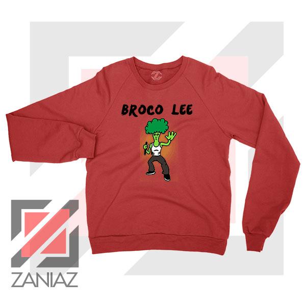 Funny Broco Lee Red Sweatshirt