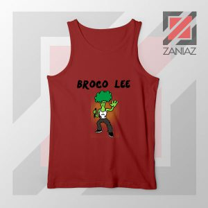 Funny Broco Lee Red Tank Top