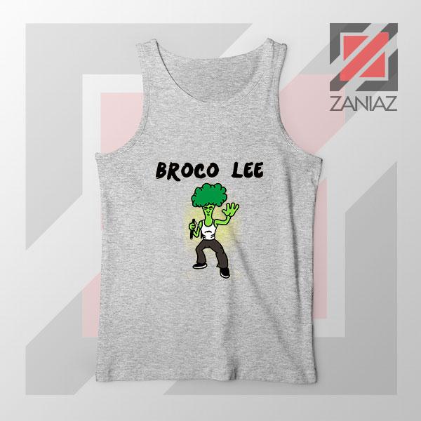 Funny Broco Lee Sport Grey Tank Top