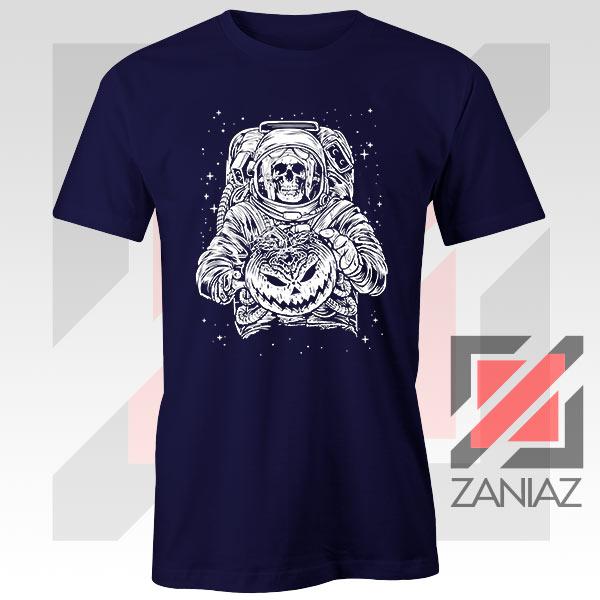 Halloween Graphic NASA Horror Navy Blue Tshirt