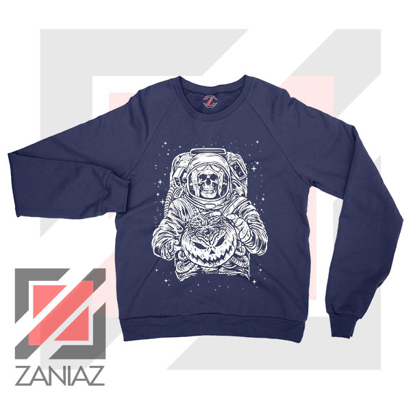 Halloween Graphic NASA Navy Blue Sweatshirt