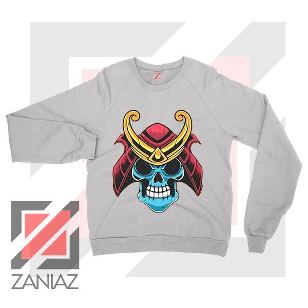 Japanese Samurai Skull Graphic Sweatshirt