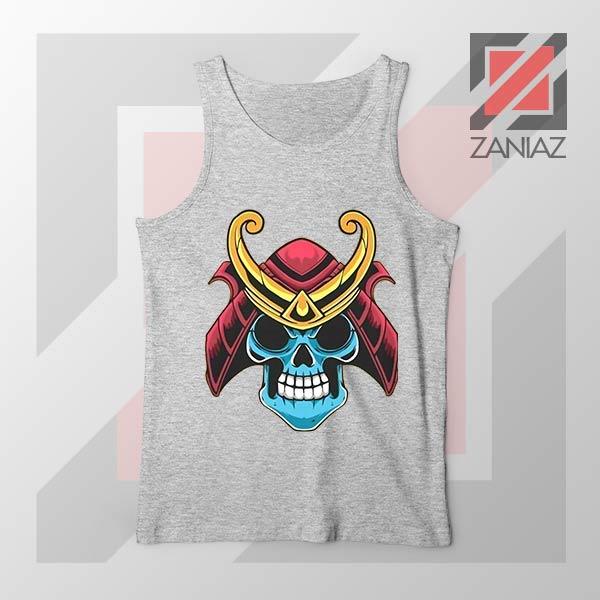 Japanese Samurai Skull Graphic Tank Top