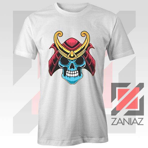Japanese Samurai Skull Graphic Tshirt