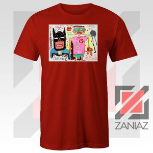 Jean Michel Basquiat Warner Bros Art Red Tshirt