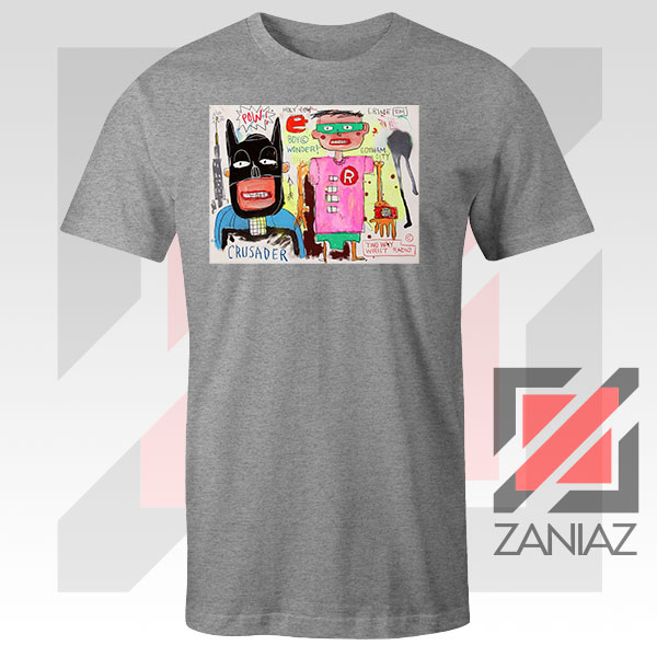 Jean Michel Basquiat Warner Bros Art Sport Grey Tshirt