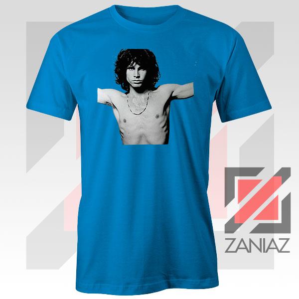 Jim Morrison Musician Graphic Blue Tee
