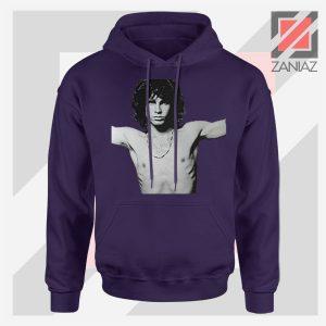 Jim Morrison Musician Graphic Navy Blue Hoodie