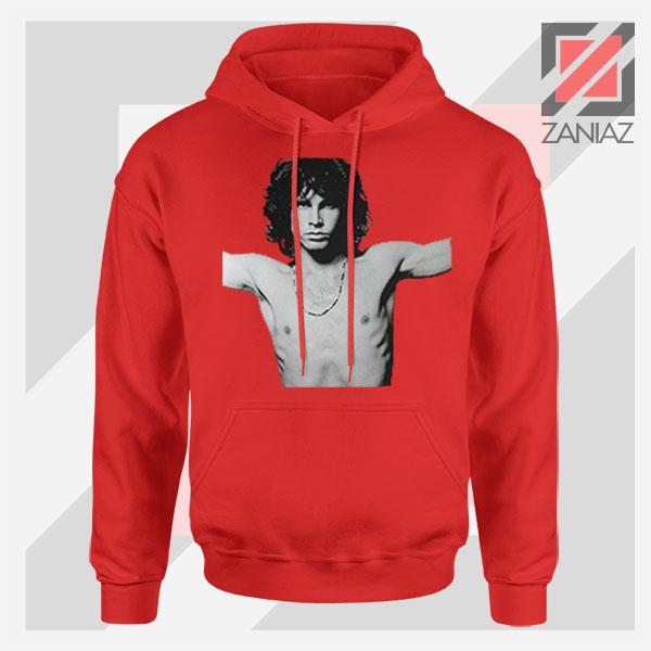 Jim Morrison Musician Graphic Red Hoodie