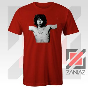 Jim Morrison Musician Graphic Red Tee
