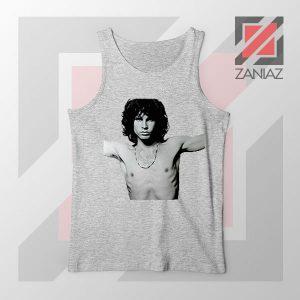 Jim Morrison Musician Graphic Sport Grey Tank Top