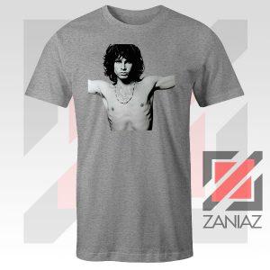 Jim Morrison Musician Graphic Sport Grey Tee