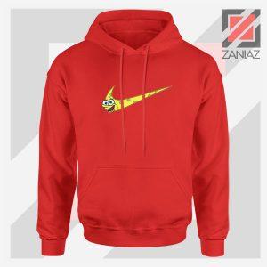 Just Spongebob Funny Nike Cheap Red Hoodie
