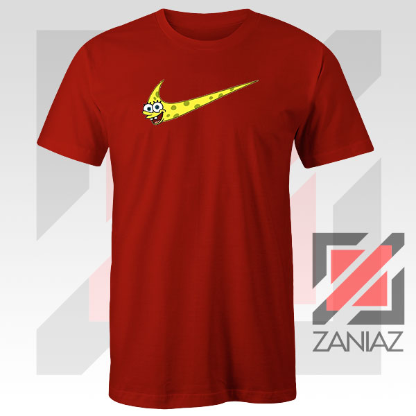 Just Spongebob Funny Nike Graphic Red Tee