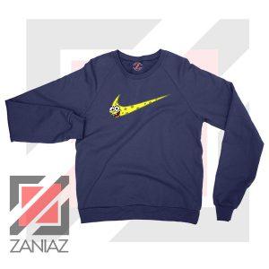 Just Spongebob Funny Nike Navy Blue Sweatshirt