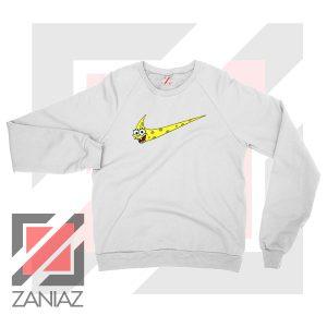 Just Spongebob Funny Nike White Sweatshirt