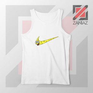 Just Spongebob Funny Nike White Tank Top