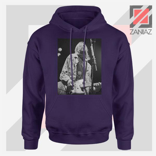 Kurt Cobain Concert Graphic Navy Blue Hoodie