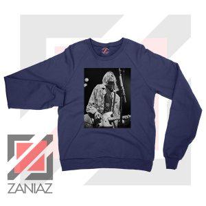 Kurt Cobain Concert Graphic Navy Blue Sweatshirt