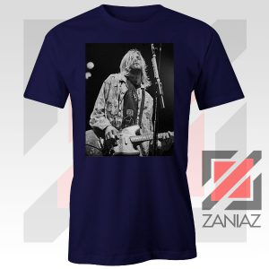 Kurt Cobain Concert Graphic Navy Blue Tshirt