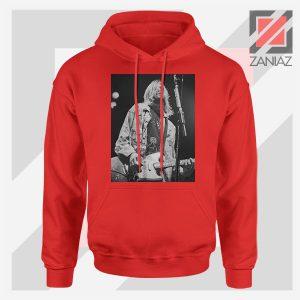 Kurt Cobain Concert Graphic Red Hoodie