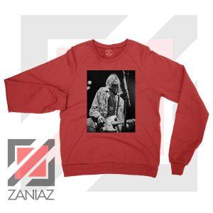 Kurt Cobain Concert Graphic Red Sweatshirt