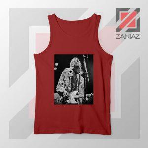 Kurt Cobain Concert Graphic Red Tank Top
