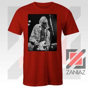 Kurt Cobain Concert Graphic Red Tshirt