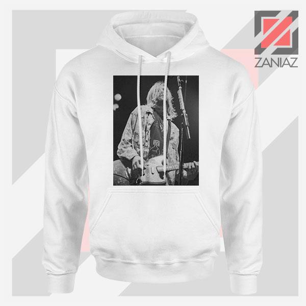 Kurt Cobain Concert Graphic White Hoodie