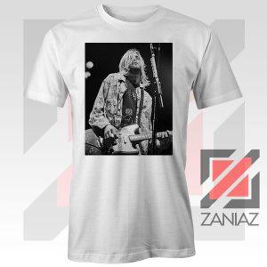 Kurt Cobain Concert Graphic White Tshirt