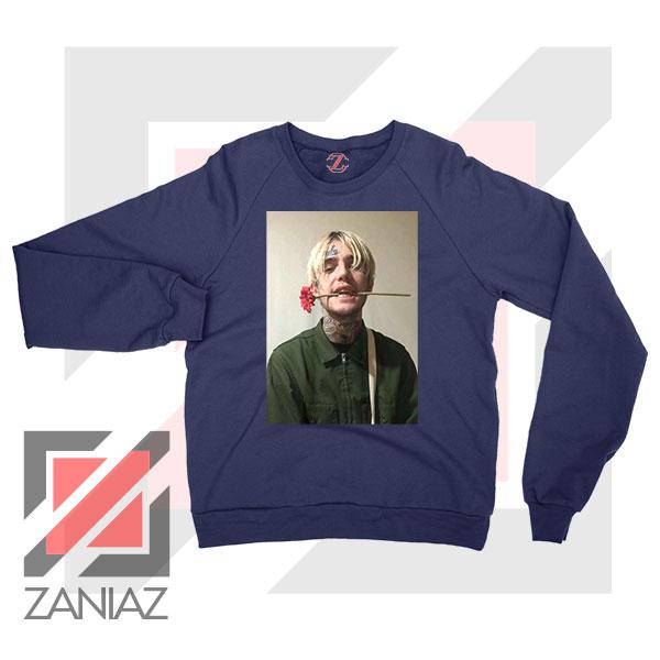 Lil Peep Flower Boy Navy Blue Sweatshirt