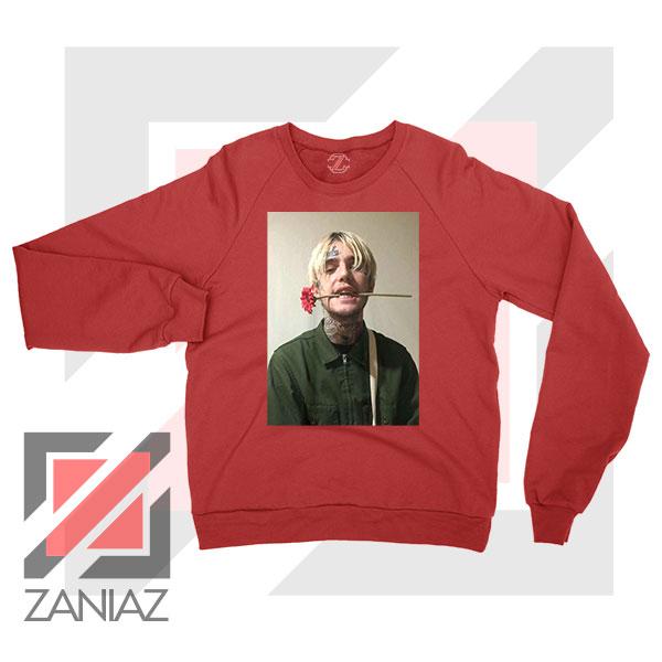 Lil Peep Flower Boy Red Sweatshirt