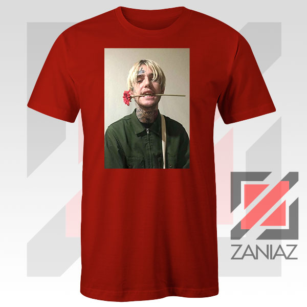 Lil Peep Flower Boy Red Tshirt