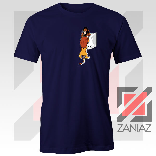 Long Live The King Mufasa Graphic Navy Blue Tshirt