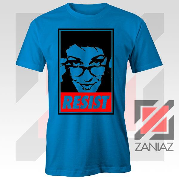 Maddow Political Resist Blue Tshirt