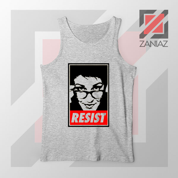 Maddow Political Resist Sport Grey Tank Top