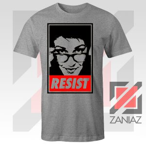 Maddow Political Resist Sport Grey Tshirt