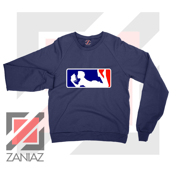 Major League Logo Reading Navy Blue Sweatshirt
