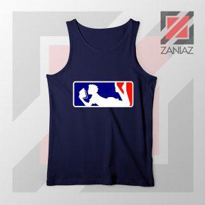 Major League Logo Reading Navy Blue Tank Top