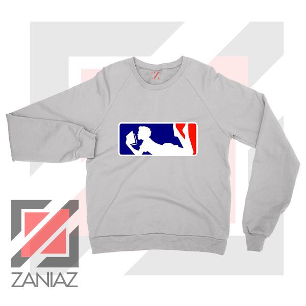 Major League Logo Reading Sport Grey Sweatshirt