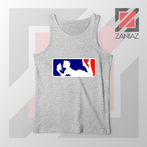 Major League Logo Reading Sport Grey Tank Top