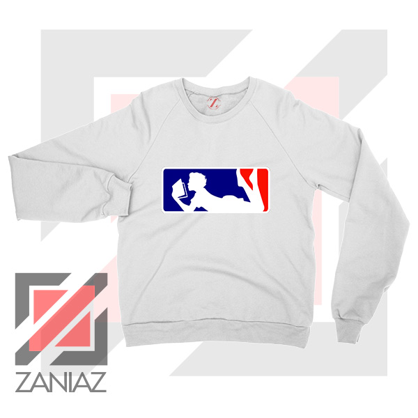 Major League Logo Reading White Sweatshirt
