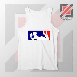 Major League Logo Reading White Tank Top