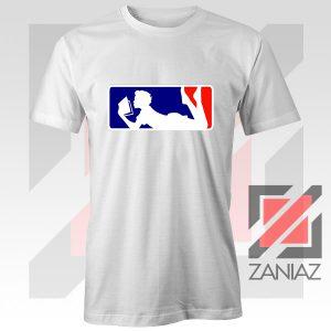 Major League Logo Reading White Tshirt