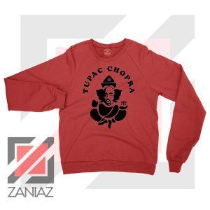 Makaveli Chopra Graphic Red Sweater