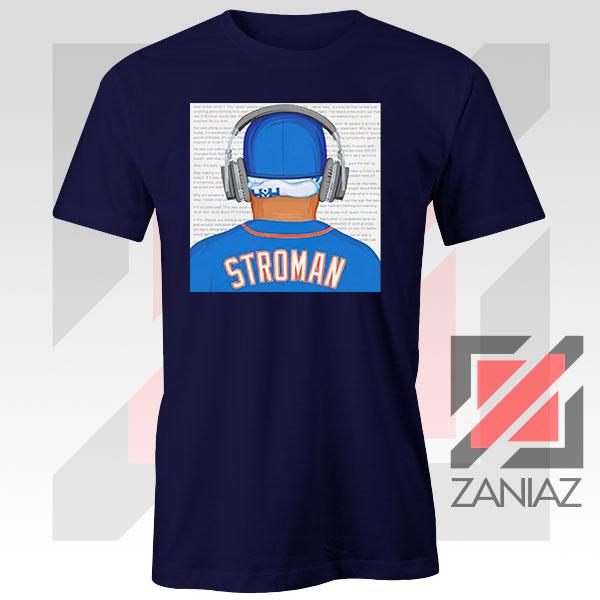 Marcus Stroman Behind Design Navy Blue Tshirt