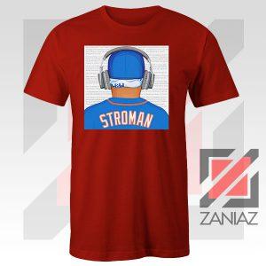 Marcus Stroman Behind Design Red Tshirt