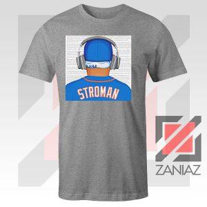 Marcus Stroman Behind Design Sport Grey Tshirt