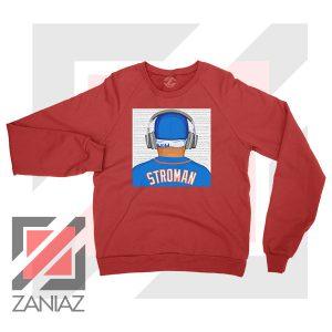 Marcus Stroman Behind Red Sweatshirt