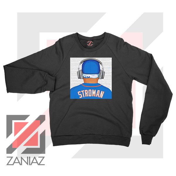 Marcus Stroman Behind Sweatshirt
